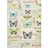 Stamperia A4 Rice Paper - Butterfly - DFSA4178